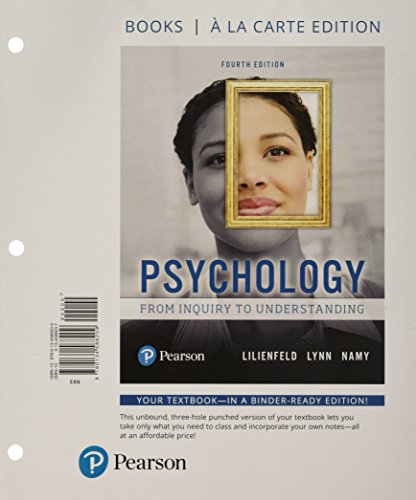 Psychology: From Inquiry to Understanding, Books a la Carte Edition Plus MyLab Psychology with eText -- Access Card Package (4th Edition) (Lilienfeld Psychology From Inquiry To Understanding 4th Edition)
