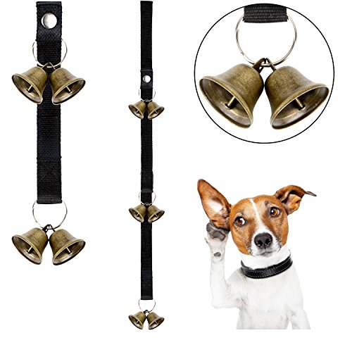 Whaline Dog Potty Bells Adjustable Puppy Doorbells for Dog Training and Housebreaking Your Doggy with Instructional Guide