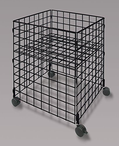 Retails Black Medium Size Mobile Dump Cube Bin 25.25Sq x 33.5H