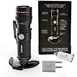 NEBO Redline RC Magdock 320 Lumen Rechargeable Flashlight Bundle with Lumintrail USB Car & Wall Plugs