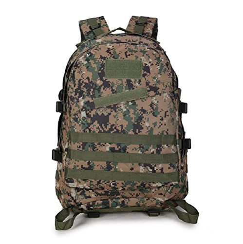 Z&N Backpack Mochila militar camping al aire libre alpinismo deportes hombros mochila de camuflaje mochila táctica militar hombres y mujeres de gran capacidad 40L portátil al aire librecp40L Jungle digital