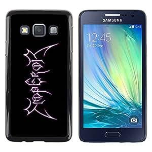 Caucho caso de Shell duro de la cubierta de accesorios de protección BY RAYDREAMMM - Samsung Galaxy A3 SM-A300 - Emperor