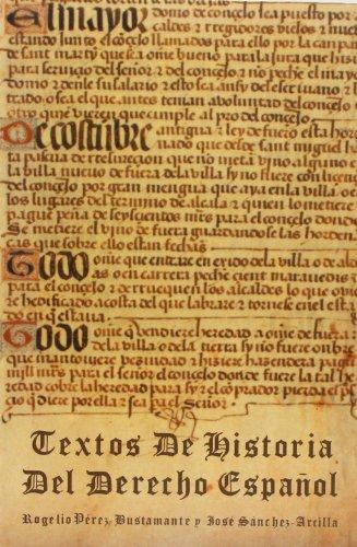 Textos de historia del derecho espanol (Spanish Edition)