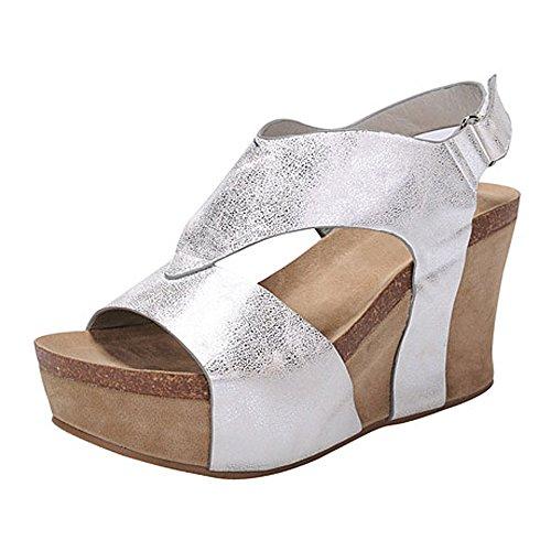 02 Silver Women Sandal - 8