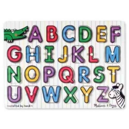 - See-inside Alphabet Peg