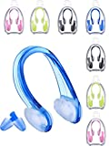 Frienda 8 Sets Swimming Earplugs and Nose Clip, Ear and Nose Protector Swimming Sets
