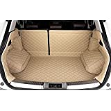 Auto mall Waterproof Full Cargo Liner Pet Cover Custom Fit Trunk Liners SUV Cargo Liners Full Covered Trunk Mats Cargo Liners Leather Boots Liner Pet Mats for Audi Q5 2010-2017 2 Seat on the Second Row(Beige)