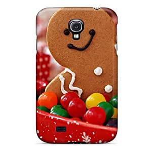 Nillesny Case Cover For Galaxy S4 - Retailer Packaging Holidays Christmas Sweets Protective Case