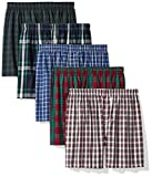 Amazon Essentials Men's 5-Pack Tag-Free Boxers, Assorted Plaid, X-Large