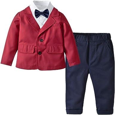 Toddle Trajes de niños para Bodas Blusa Abrigo Pantalones 4 ...