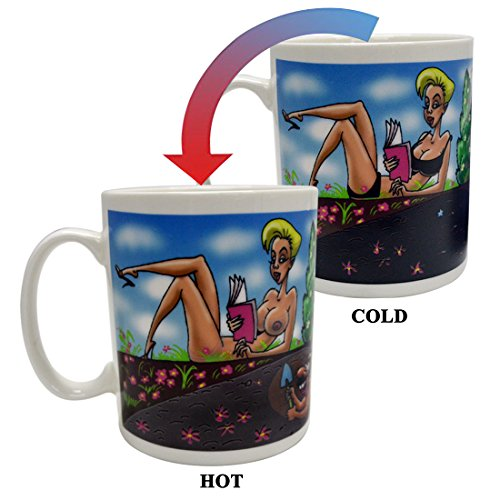Color Changing Ceramic Coffee Cup Heat Sensitive Mugs for Friend Gifts