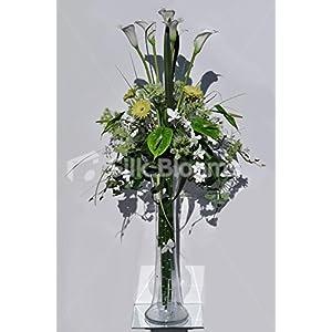 Extra Tall White Calla Lilies, Green Gerberas & Anthurium Vase Floral Arrangement 36