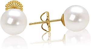 Sweepstakes: Gold Plated Sterling Silver Round White Simulated Shell...