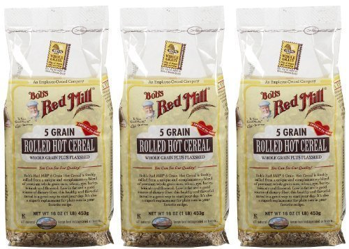 5 Grain Cereal (Bob's Red Mill 5 Grain Rolled Cereal - 16 oz - 3 pk)