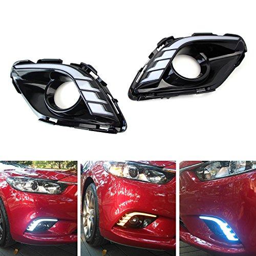 2pcs White Led Daytime Running Light Drl Fog Lamp For Mazda 6 2005 2008: Mazda Replacement Headlights