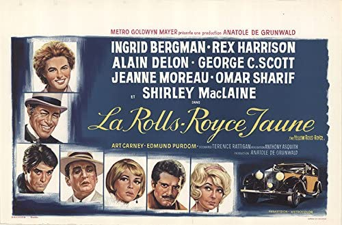 The yellow Rolls Royce Ingrid Bergman movie  print