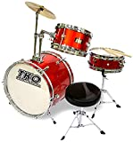 TKO 99TKO99MR 3-Piece Junior Drum Set,  Metallic Red