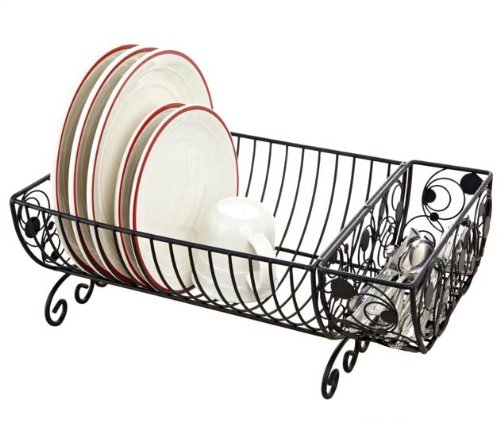 Kitchen Dish Rack with Cutlery Basket (looks like wrought iron!)