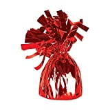 Club Pack of 12 Metallic Red Party Balloon Weight Decorative Birthday Centerpieces 6 oz.