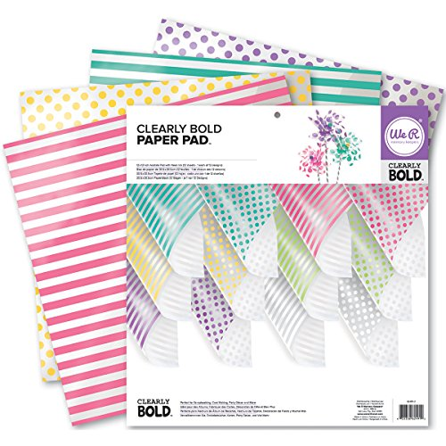 We R Memory Keepers Acetate Pad, 12 x 12-Inch, Clearly Bold, 12-Pack Acetate Paper