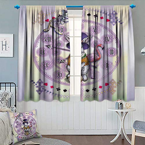 Sconce Light 1 Novello (Chaneyhouse Animal Blackout Window Curtain Alice in Wonderland Rabbit and Cat Fiction Story Novel Child Display Story Customized Curtains 63