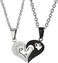 OPK Jewelry Titanium Steel Headset Necklace Music Headphone Punk Pendant,Gold//Black//Silvery,23.6