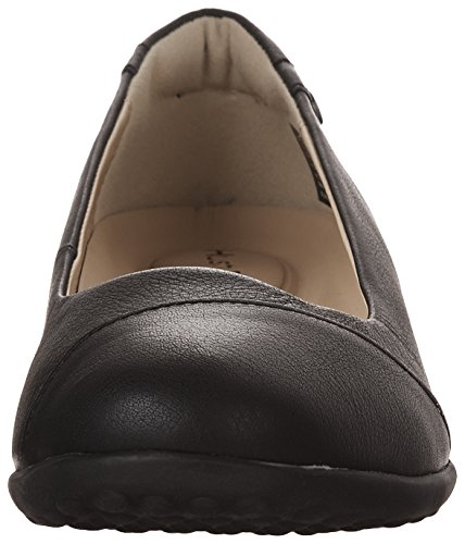 Hush Puppies Womens Linnet Bria Slip-on Mocassino In Pelle Nera