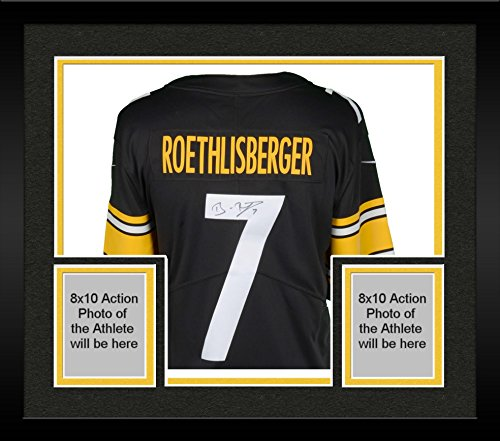 Framed Ben Roethlisberger Pittsburgh Steelers Autographed Nike Black Limited Jersey - Fanatics Authentic Certified