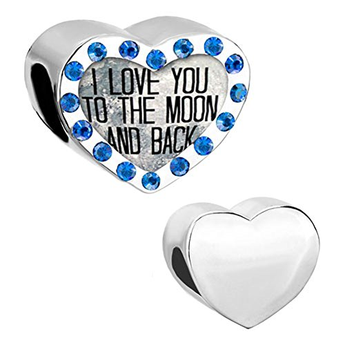 Heart Charms Crystal Birthstones Beads