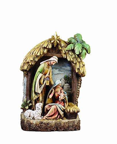 Napco Holy Family in Creche Christmas Decoration Figurine
