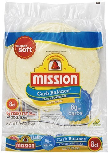 Mission, Flour Tortilla - Low Carb -Soft Taco, 8 ct, 12 oz by Mission
