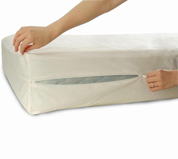 Allersoft Bettwanzen-, Staubmilben- & Allergiekontroll-Matratzenschutzumhüllung aus 100 Prozent Baumwolle, 180 x 200 x 20 cm