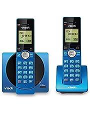 VTech CS6919-25 Dect_6.0 2 Handset Landline Telephone, Metallic Blue