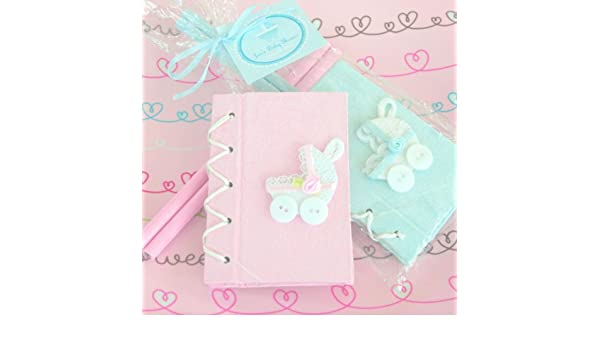 Amazon.com: Thanks for Strolling By Baby Carriage Notebook Gift Set - Blue [SET OF 24]: Kitchen & Dining