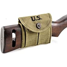 M1 Carbine Buttstock Type Pouch Lt. OD Green Marked JT&L 1943