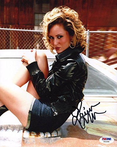 Lauren C. Mayhew SIGNED 8x10 Photo Escorts Fixed WWE *SEXY* AUTOGRAPHED - PSA/DNA Certified - Autographed Wrestling Photos