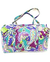Vera Bradley Large Duffel in Heather with Solid Purple Interior