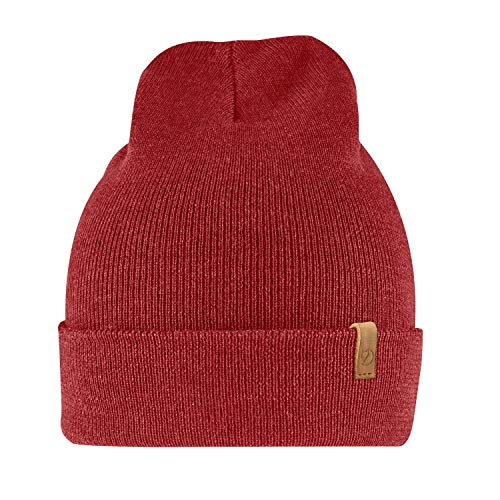 Classic Logo Beanie - Fjallraven - Classic Knit Hat, Lava
