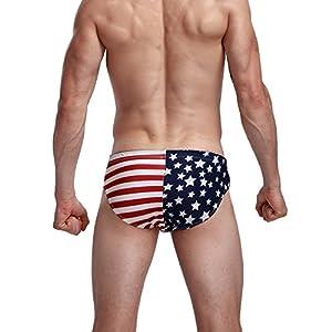 Appler Mens Swimwear Drawstrig Sexy Swim Briefs Bikini Board Surf Shorts Boxer Swimsuits