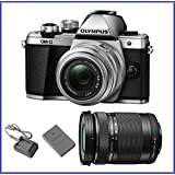 Olympus OM-D E-M10 Mark II Mirrorless Micro Four Thirds Digital Camera with 14-42mm II R Lens [Silver] & Olympus M.Zuiko Digital ED 40-150mm f/4.0-5.6 R Lens [Black]