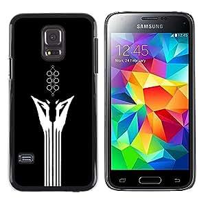 LECELL--Funda protectora / Cubierta / Piel For Samsung Galaxy S5 Mini, SM-G800 -- Resumen minimalista Animal --