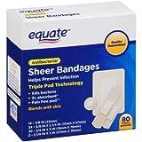 step up step 2 cs - Equate Antibacterial Sheer Bandages, 80 count