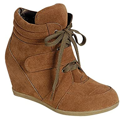 Amazon.com | Reneeze BEATA-02 Womens Wedge Sneaker Booties | Fashion  Sneakers