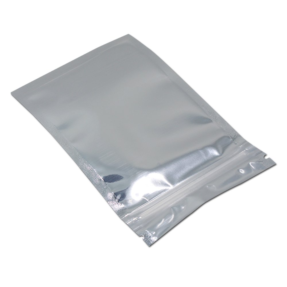 FERENLI 3.9x6.8 inch Clear Front Aluminum Foil Packing Bag Reclosable Mylar Plastic Zip Lock Package Pouch Food Snack Grocery Display Foil Bag Heat Seal 100 Pcs by FERENLI (Image #9)