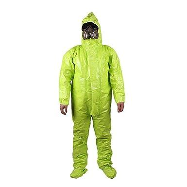 HZTWS Ropa de protección química, Ácido y álcali, traje anti ...