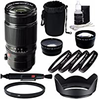 Fujifilm XF 50-140mm f/2.8 R LM OIS WR Lens + 72mm +1 +2 +4 +10 Close-Up Macro Filter Set with Pouch + 72mm Multicoated UV Filter + 72mm Wide Angle Lens + 72mm 2x Telephoto Lens with pouch Bundle 6