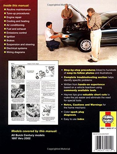 Stupendous Buick Century 1997 Thru 2002 Haynes Repair Manuals Haynes Wiring Database Cominyuccorg