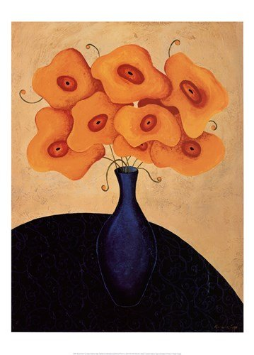 Bouquet Dor by Jocelyne Anderson-Tapp - 20x28 Inches - Art Print Poster