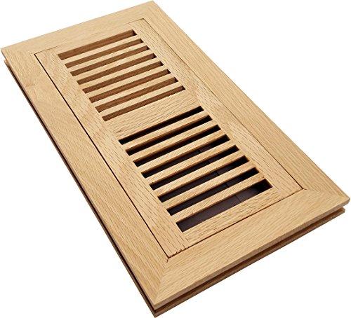 Homewell White Oak Wood Floor Register Vent Flush Mount With Frame