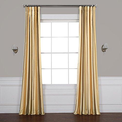 - Pts-SLK940-84 Luxury Faux Silk Stripe Curtain, 50 x 84, Norfolk